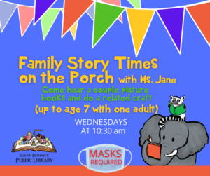 Story Times on the Porch @ South Berwick Public Library Porch